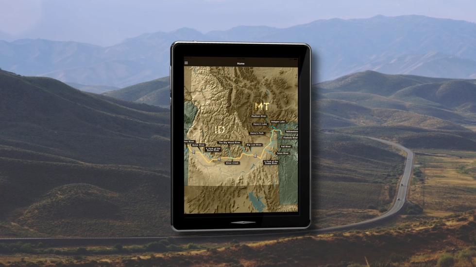Fly Highway mobile application, fly fishing, app, highway 20