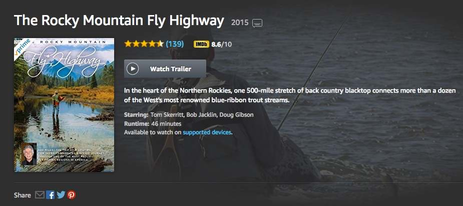 The Rocky Mountain Fly Highway Amazon Prime Google Play streaming